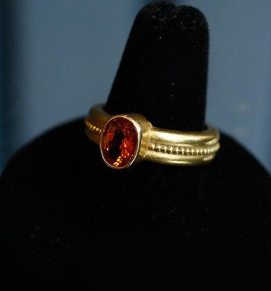 Handmade 22K Gold Ring Topaz Ring