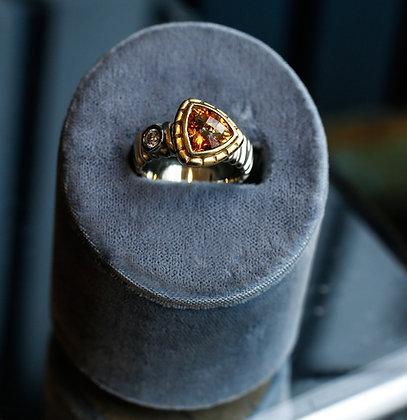 Diamond Citrine Ring