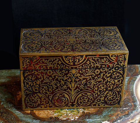 Antique French Boulle Letter Box