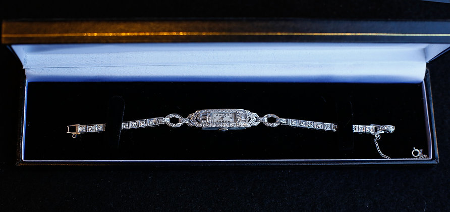 1932 Longines Watch Platinum and White Gold