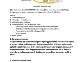 Nieuwsbrief 2021 nr 1