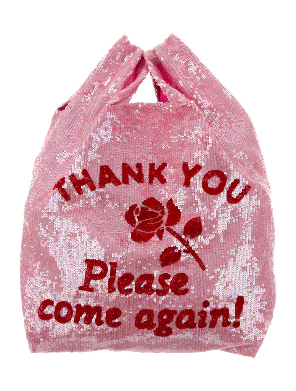 How to go plastic free: carry a reusable bag. This sequinned tote by Ashish is a particularly fun one.