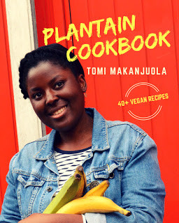 Tomi has written multiple cookbooks, including Plantain Cookbook, with over 40 plantain-infused recipes.
