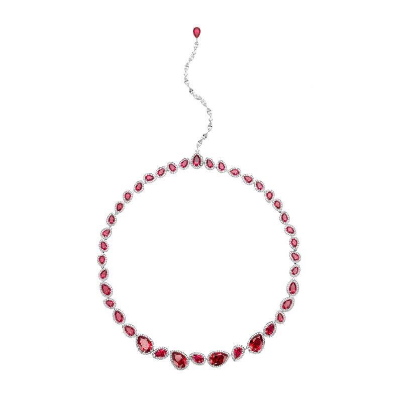 Lola Necklace, Swarovski Created Rubies, £23,000. wearebee.co.uk