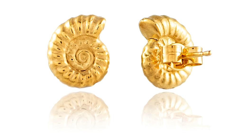 Ammonite Stud Earrings, £120. Natalie Perry Jewellery on wearebee.co.uk