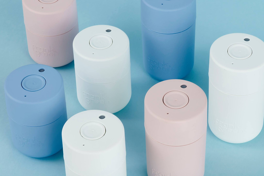 How to go plastic free: buy a reusable bottle. Frank Green's bottles are practical, contemporary, sleek and stylish.