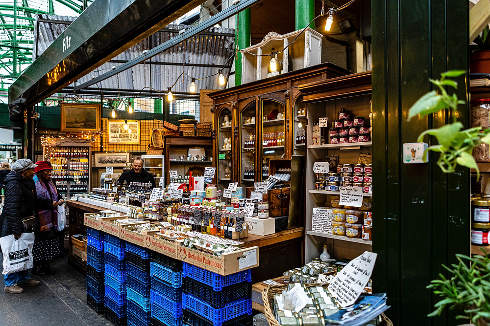 How to go plastic free: shop local and bring reusable containers. Pictured: Borough Market, London.