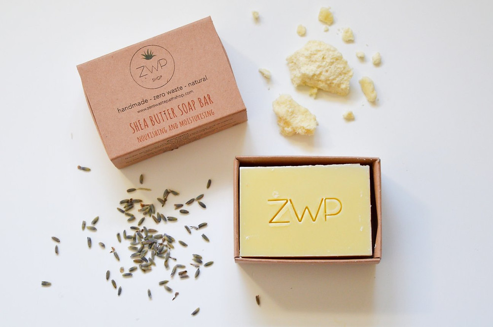 Shea butter soap bar, zero waste, wearebee.co.uk