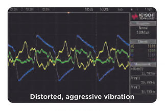 Niagara CVT vs generic massage pad vibration graph