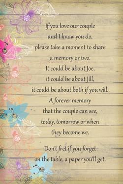 Bridal Shower Poem