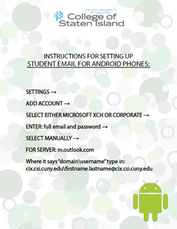 Campus Email Help for Android Phones