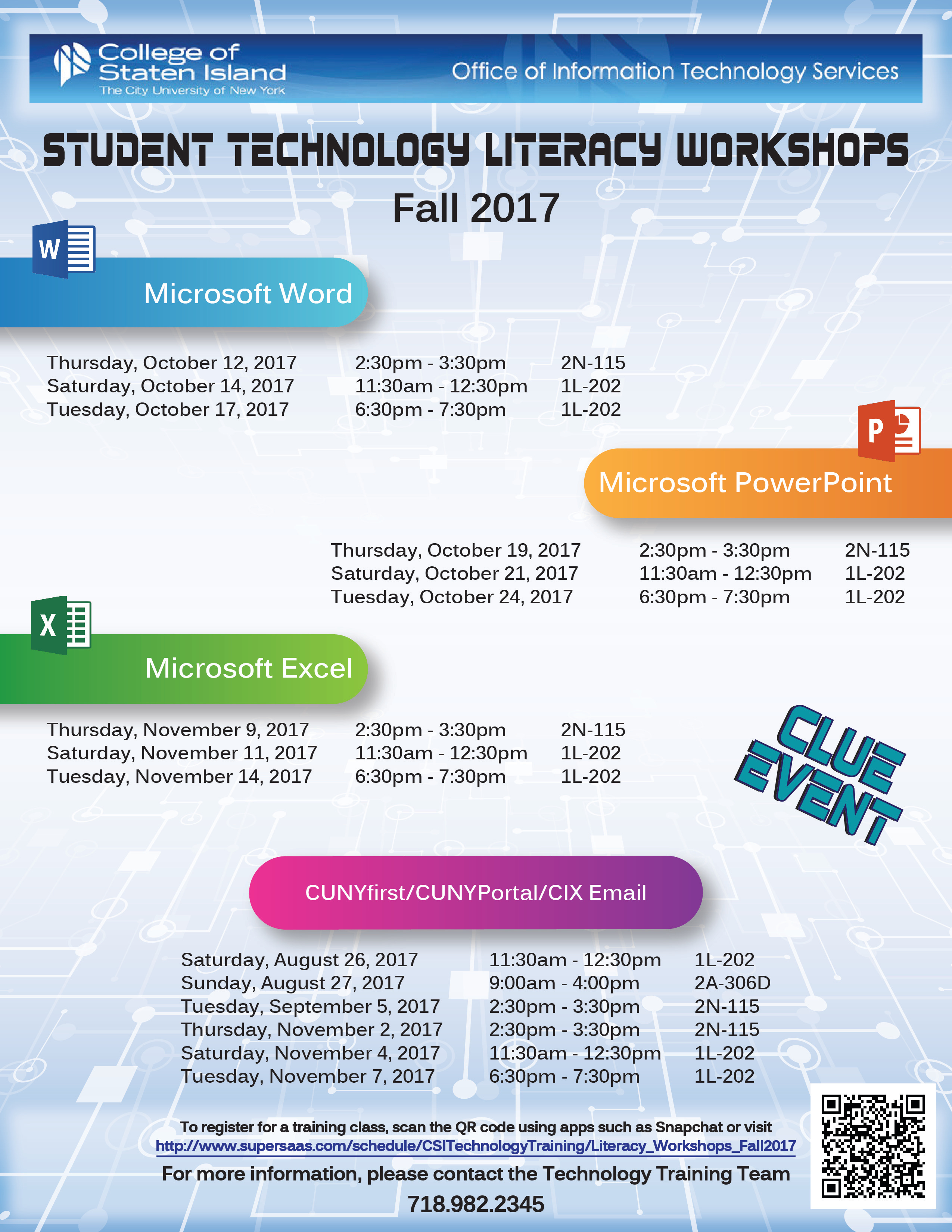 Student Technology Training Workshop