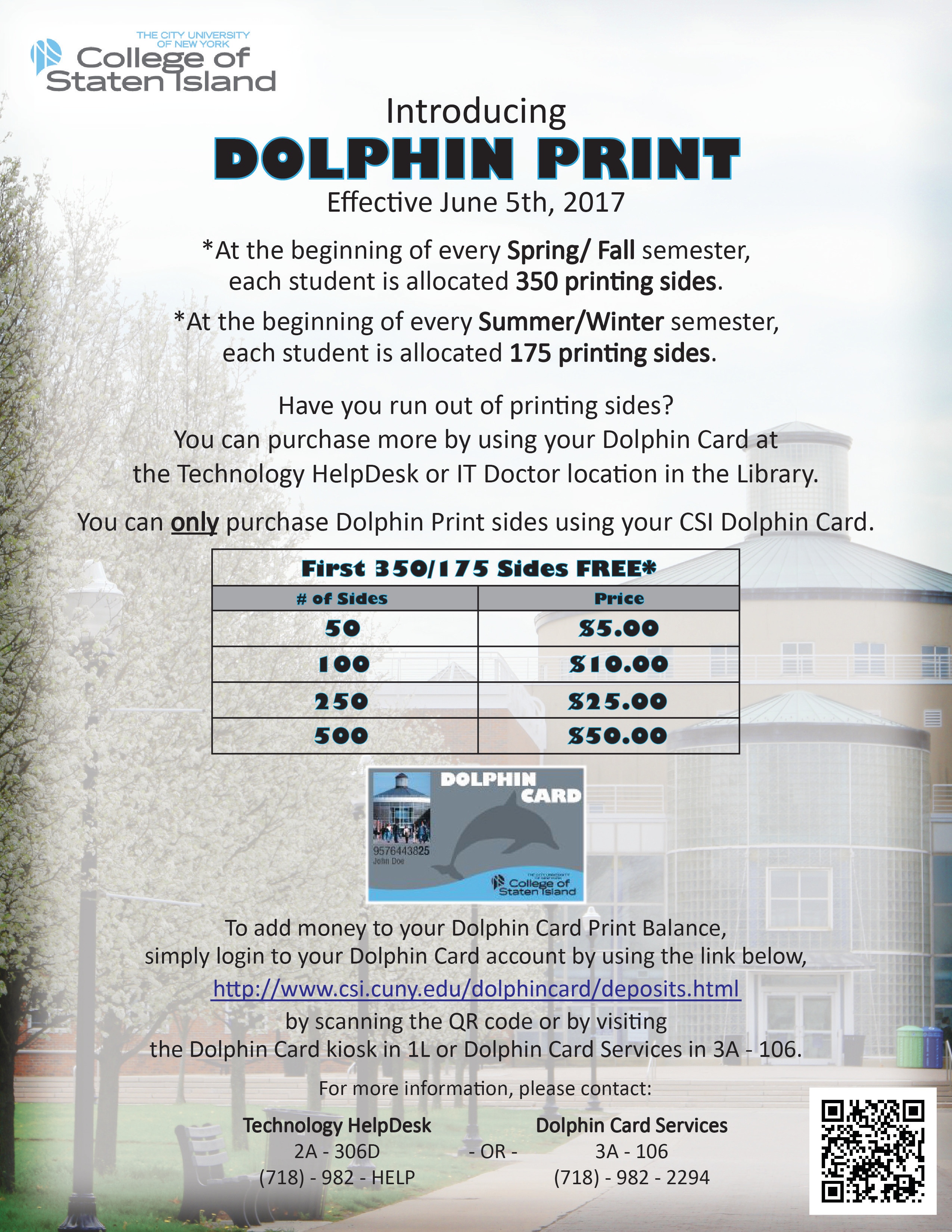 CSI Dolphin Print Policy
