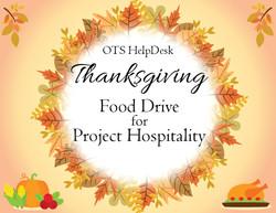 CSI HelpDesk Thanksgiving Food Drive Flyer