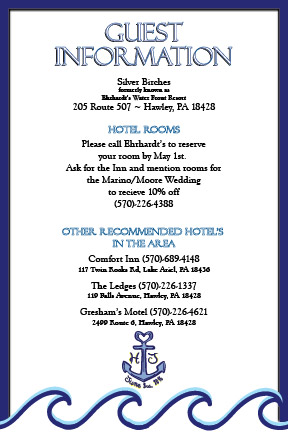 Guest Information Card