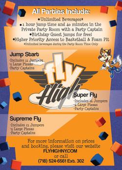 Party Info Postcard - Back
