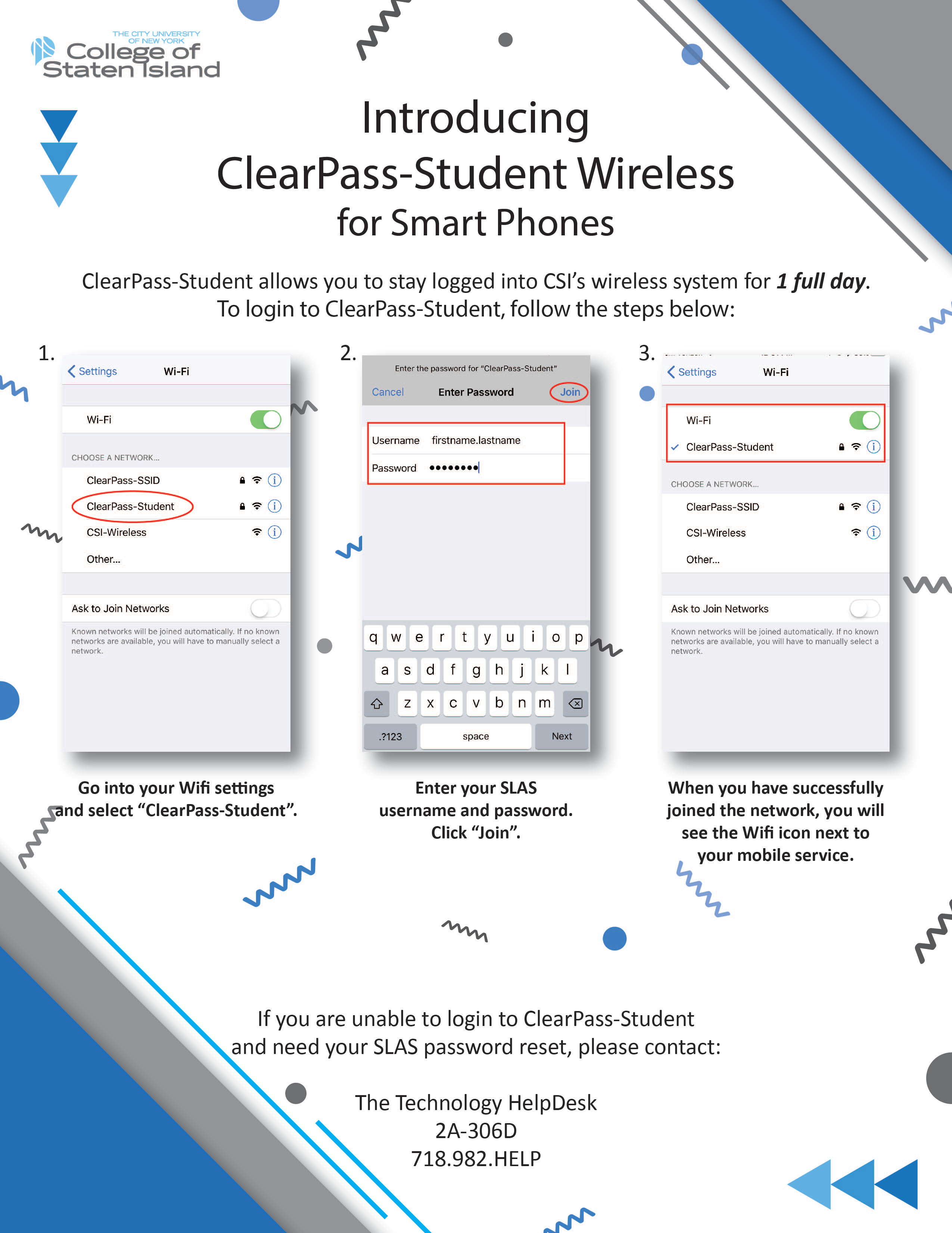 CSI Student Wireless Flyer