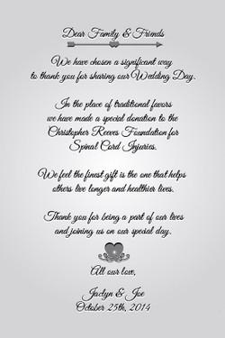 Wedding Favor Scroll