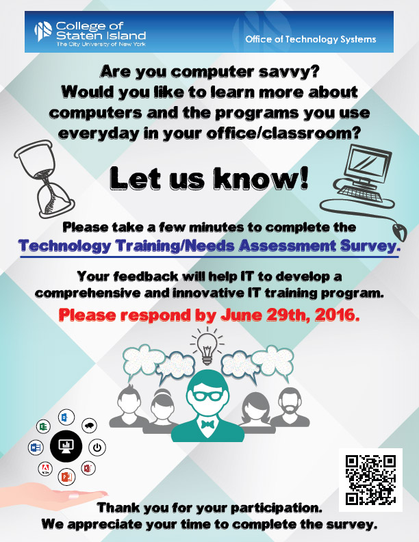 Technology Training Survey Flyer