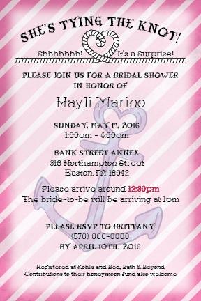 Nautical Theme Bridal Shower Invitation