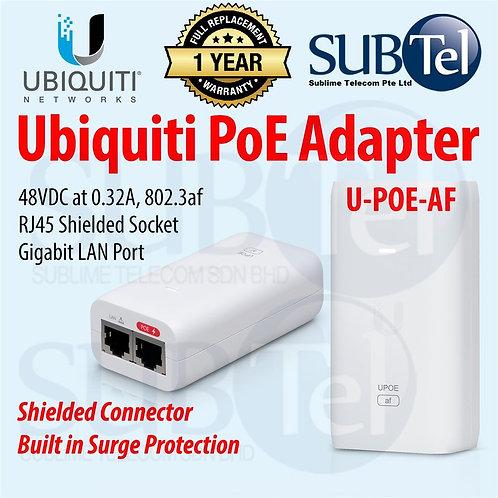 U-POE-AF Ubiquiti POE Adapter Network Gigabit 802.3af UBNT