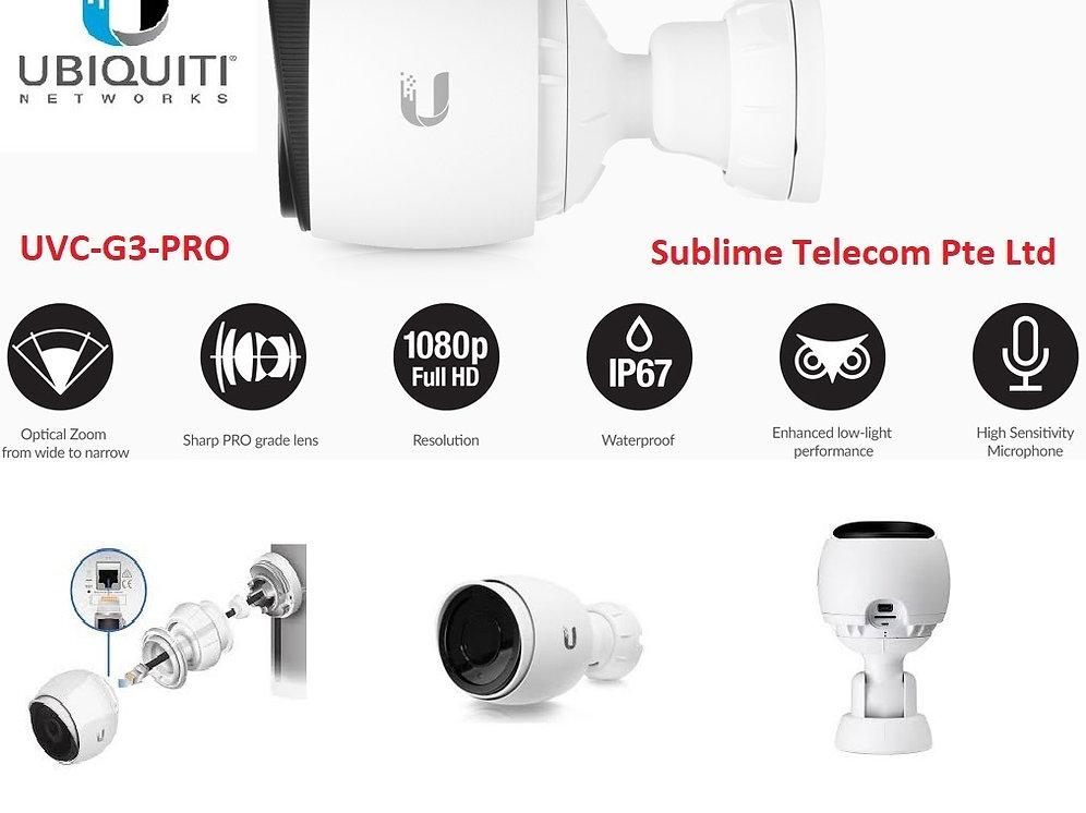UVC-G3-PRO Ubiquiti Unifi Video Camera G3 Pro Version Mic & IR UBNT    sublimetelecom