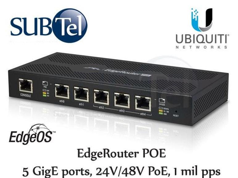 ER-POE Ubiquiti Edge Router POE UBNT 5 Port Gigabit