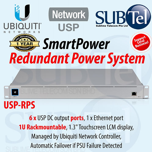 USP-RPS Ubiquiti SmartPower Redundant Power System 1U Rackmount UBNT Singapore
