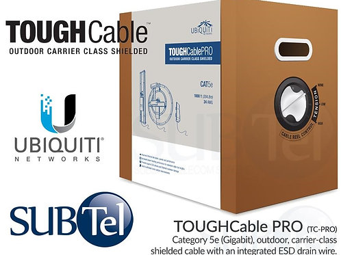 TC-PRO SFTP Ubiquiti Outdoor Shielded TOUGH Cable PRO Cat5e Twisted Pair