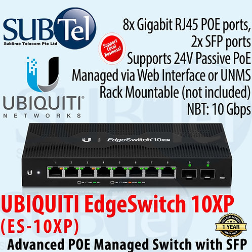 ES-10XP Ubiquiti Networks EdgeSwitch 10XP 10-Port Gigabit Switch UBNT