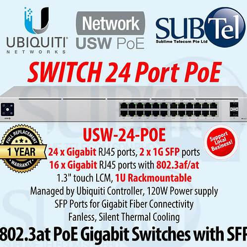 USW-24-POE Gen 2 Ubiquiti 120W UniFi Managed Layer 2 Switch with SFP, UBNT