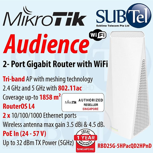 Mikrotik Audience - Gigabit WiFi Mesh Router RBD25G-5HPacQD2HPnD AP Access Point