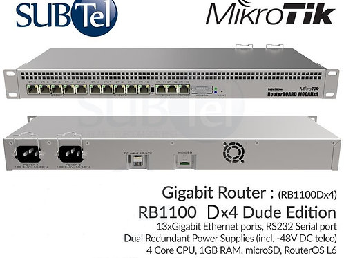 RB1100DX4 ( Also Known As RB1100AHX4 Dude Edition ) Mikrotik Gigabit Router