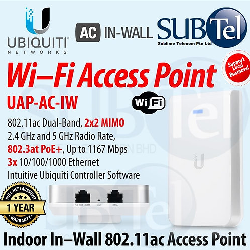 UAP-AC-IW Ubiquiti Unifi AP In-Wall 2.4GHz & 5GHz Enterprise WiFi UBNT