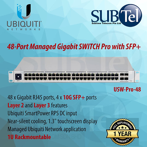 USW-PRO-48 Ubiquiti Gen2 48 Port Switch PRO Model SFP+ RPS Input UBNT