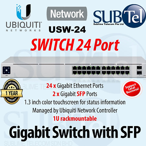 USW-24 Ubiquiti Unifi Gen2 Switch 24 Ports With SFP UBNT
