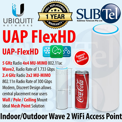 UAP-FLEXHD Ubiquiti Unifi FlexHD -WiFi Access Point 4 X 4 Wave 2 MU-MIMO Flex HD