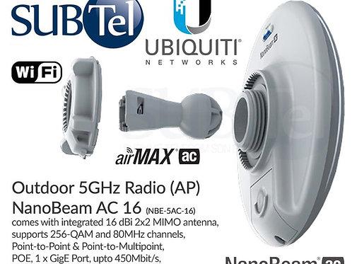 NBE-5AC-16 Ubiquiti NanoBeam AC 5GHz PTP CPE UBNT