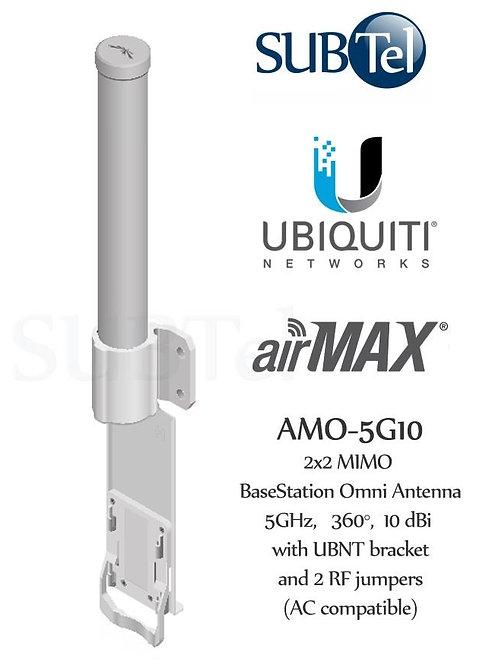 AMO-5G10 Ubiquiti 5GHz 10dBi AirMax MIMO Omni WiFi Antenna