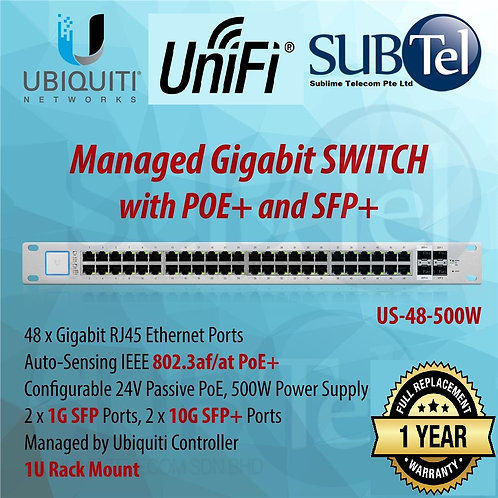 US-48-500W Ubiquiti Unifi Switch POE+ 48 Port SFP+ UBNT