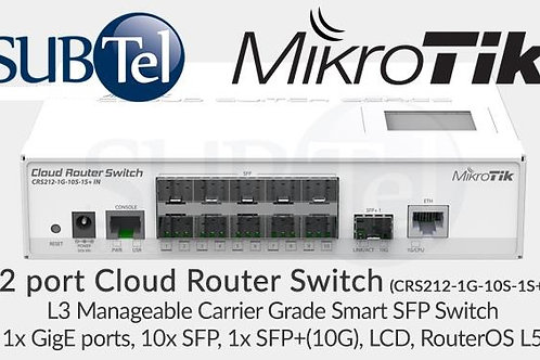 CRS212-1G-10S-1S+IN 12 port MikroTik L3 Gigabit SFP SFP+ 10Gbps Switch