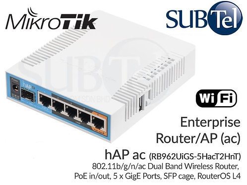RB962UiGS-5HacT2HnT Mikrotik WiFi SFP Router hAP ac