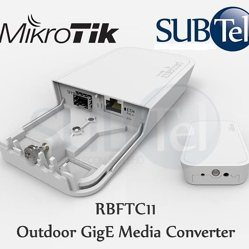 RBFTC11 Mikrotik Outdoor Gigabit Fiber Media Converter SFP UTP RJ45