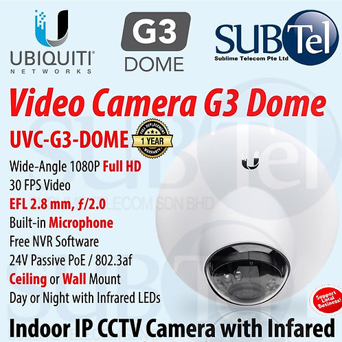 UVC-G3-Dome Ubiquiti Unifi Video Camera Full HD IP CCTV UBNT 1080P