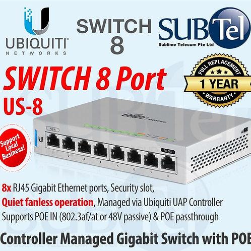 US-8 Ubiquiti UniFi Switch 8 PoE UBNT