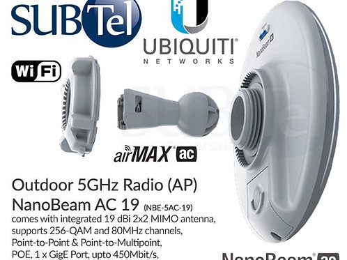 NBE-5AC-19 Ubiquiti NanoBeam AC 5 GHz CPE UBNT