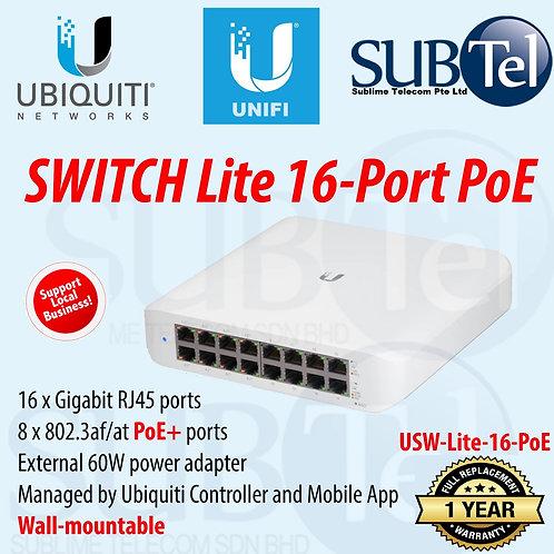 USW-Lite-16-PoE Ubiquiti Switch Lite 16-Port POE 802.3at PoE+ USW