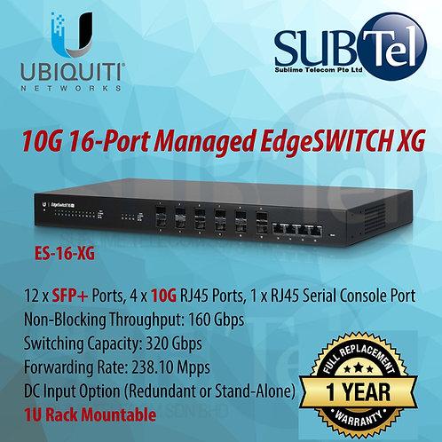 ES-16-XG Ubiquiti EdgeSwitch 10G Smart Switch 16 Port SFP+ 10GBaseT