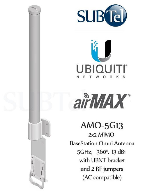 AMO-5G13 Ubiquiti 5GHz 13dBi AirMax MIMO Omni WiFi Antenna
