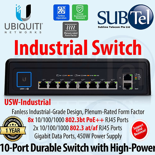 USW-Industrial Ubiquiti Networks UniFi Switch 10 Gigabit RJ45 802.3bt PoE++ UBNT